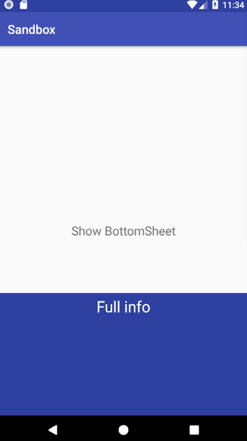 How to add a Bottom Sheet to an Android App | en proft me