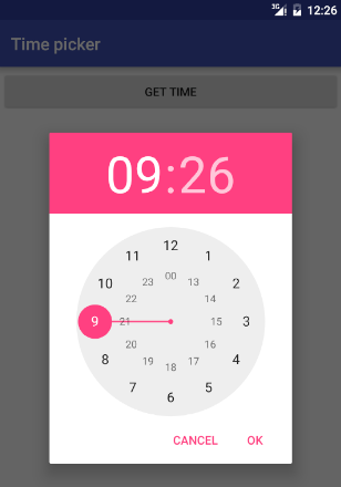 Android Time and Date picker tutorial | en proft me